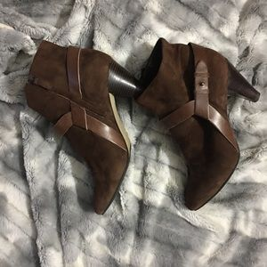 Cole Haan Nike Air Brown Suede Ankle Boots Sz 9B